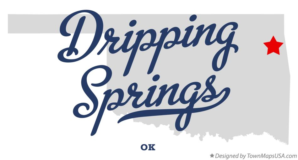Map of Dripping Springs Oklahoma OK