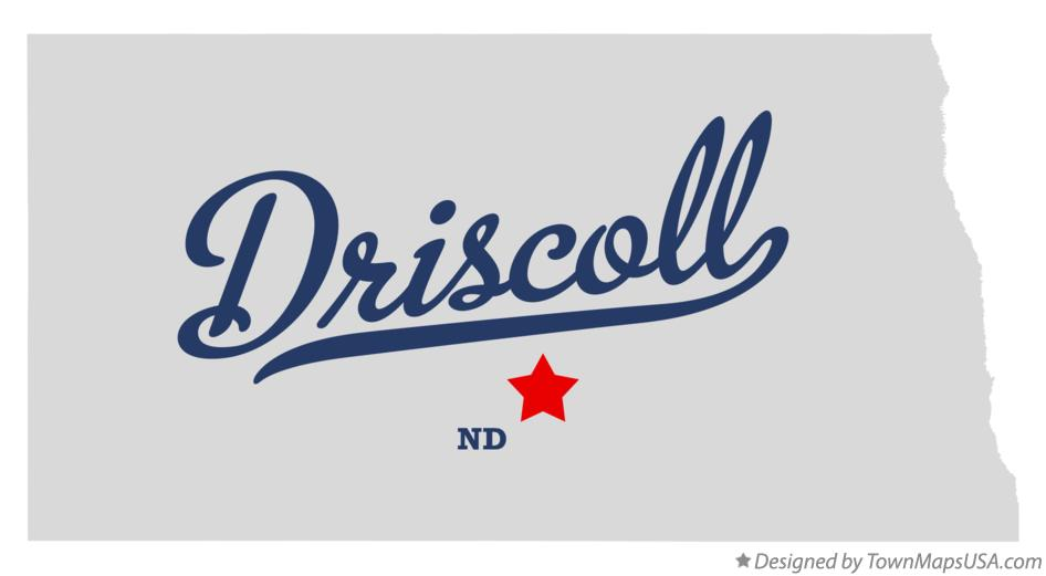 Map of Driscoll North Dakota ND