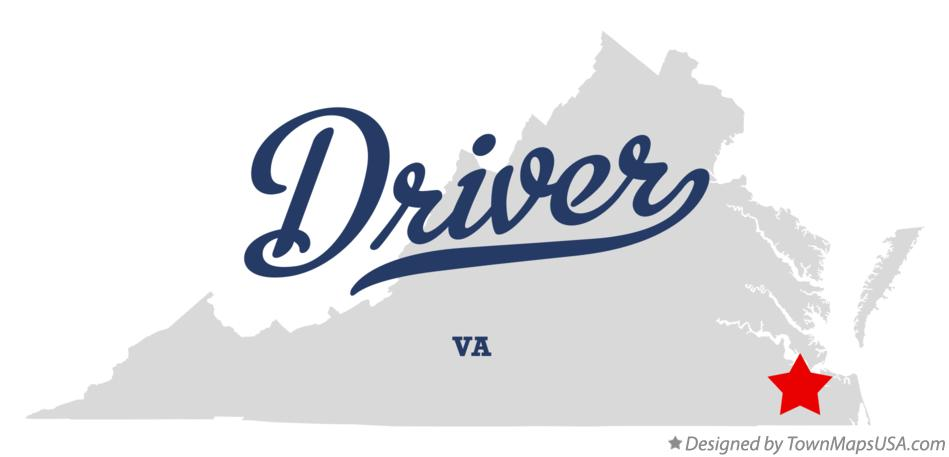 Map of Driver Virginia VA