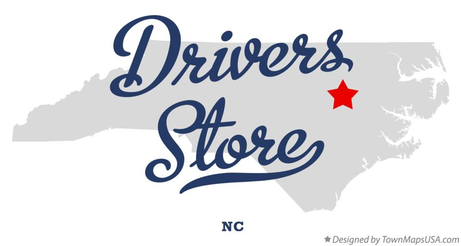 Map of Drivers Store North Carolina NC