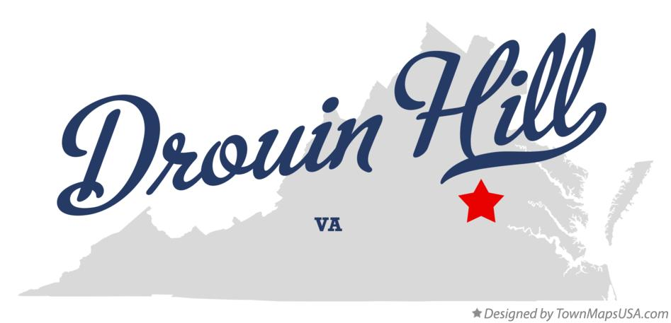 Map of Drouin Hill Virginia VA