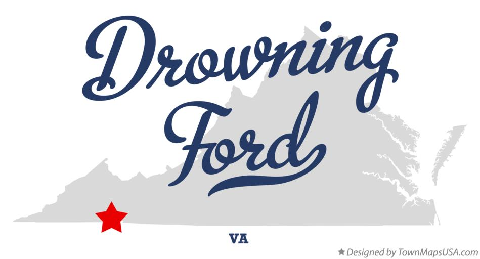 Map of Drowning Ford Virginia VA