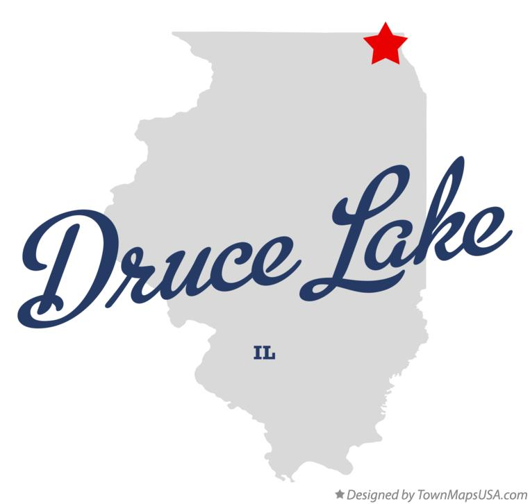 Map of Druce Lake Illinois IL