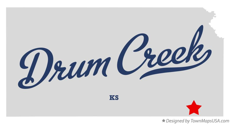 Map of Drum Creek Kansas KS