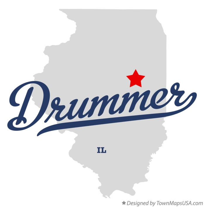Map of Drummer Illinois IL