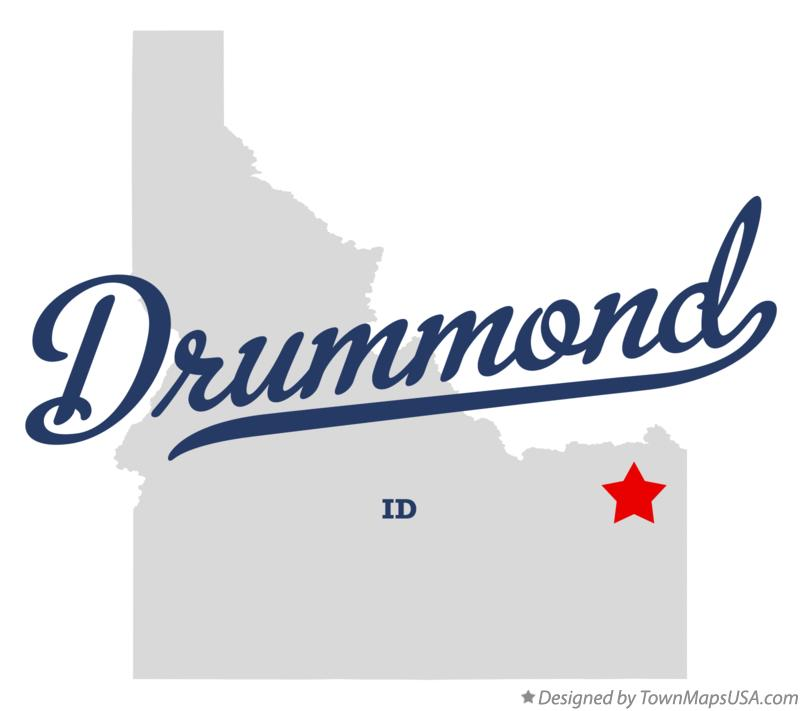 Map of Drummond Idaho ID
