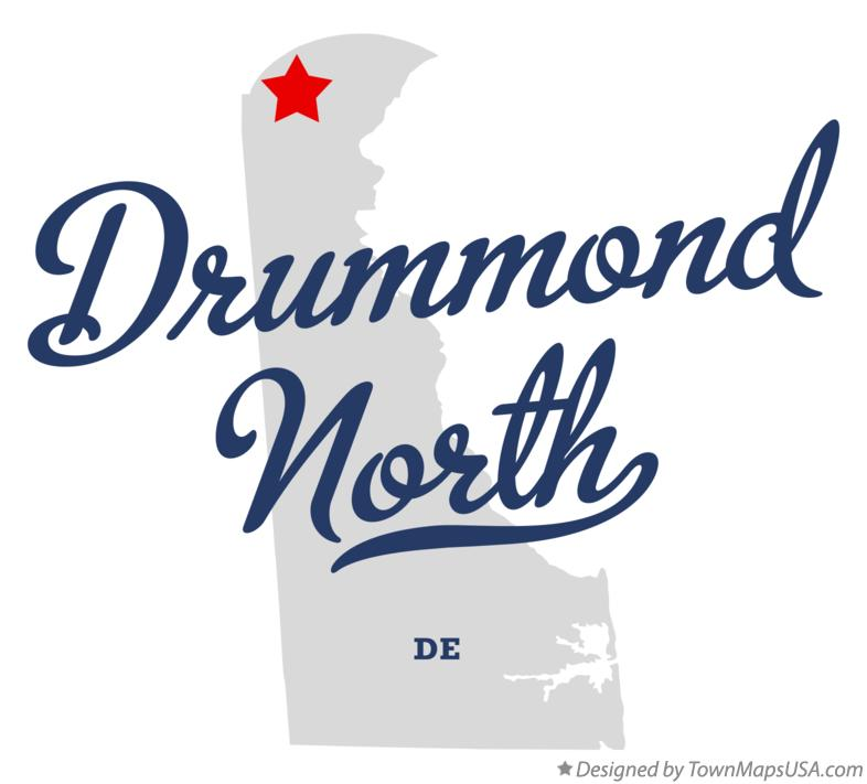 Map of Drummond North Delaware DE