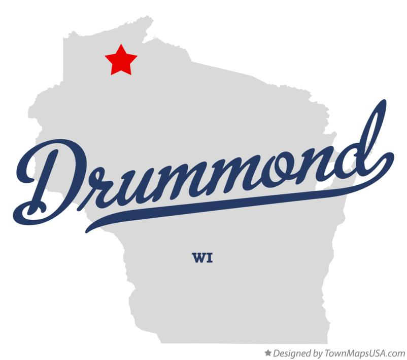 Map of Drummond Wisconsin WI