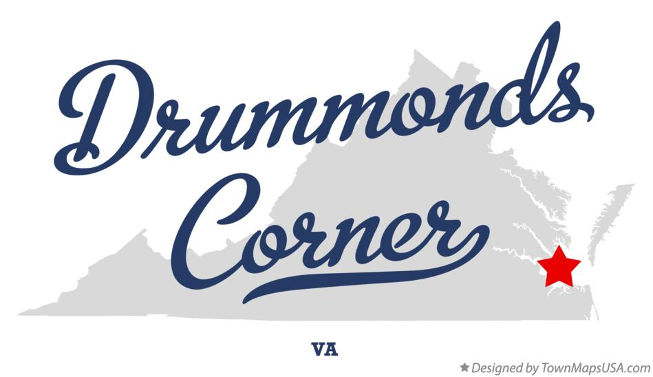 Map of Drummonds Corner Virginia VA