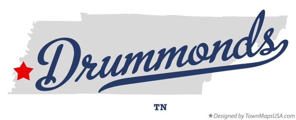 Map of Drummonds Tennessee TN