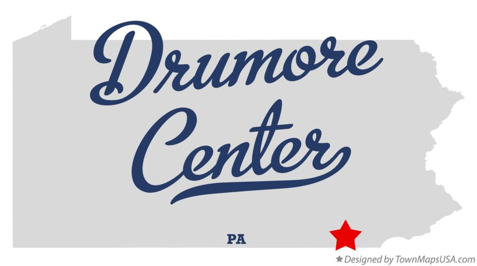 Map of Drumore Center Pennsylvania PA