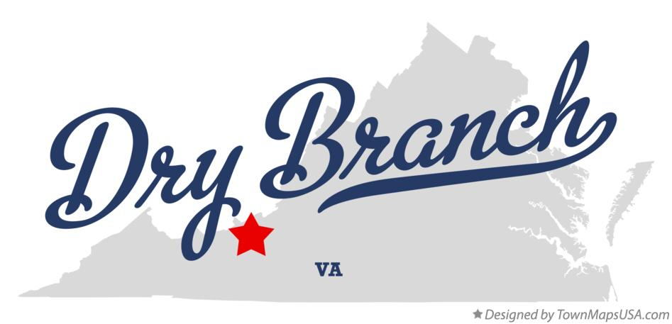 Map of Dry Branch Virginia VA