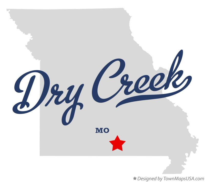 Map of Dry Creek Missouri MO