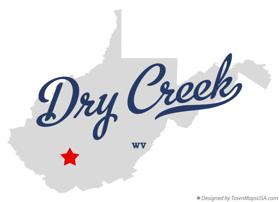 Map of Dry Creek West Virginia WV