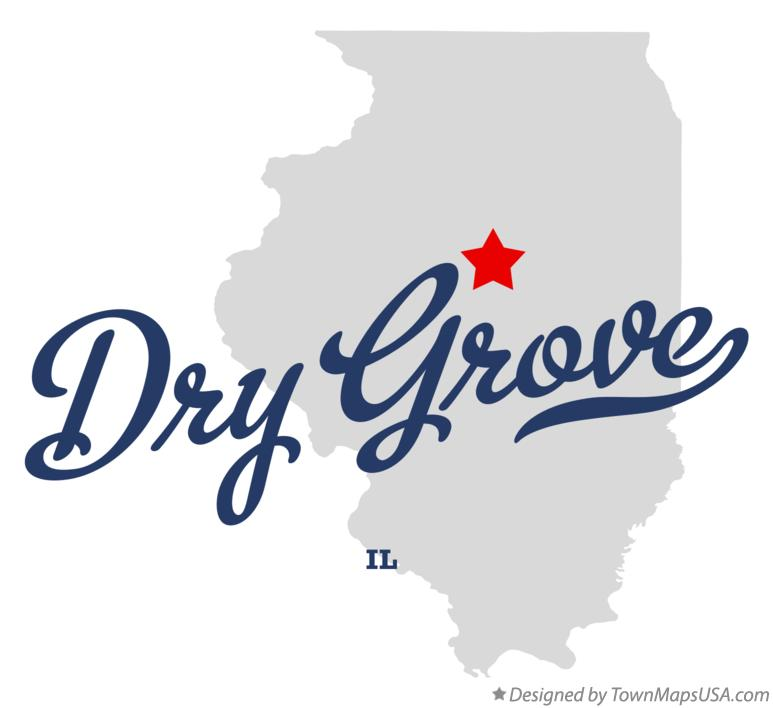 Map of Dry Grove Illinois IL