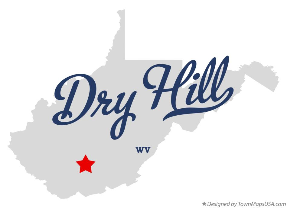 Map of Dry Hill West Virginia WV
