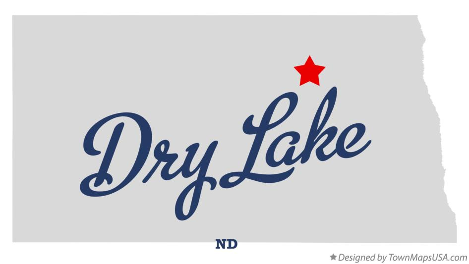 Map of Dry Lake North Dakota ND