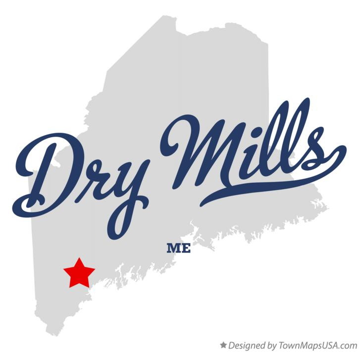 Map of Dry Mills Maine ME