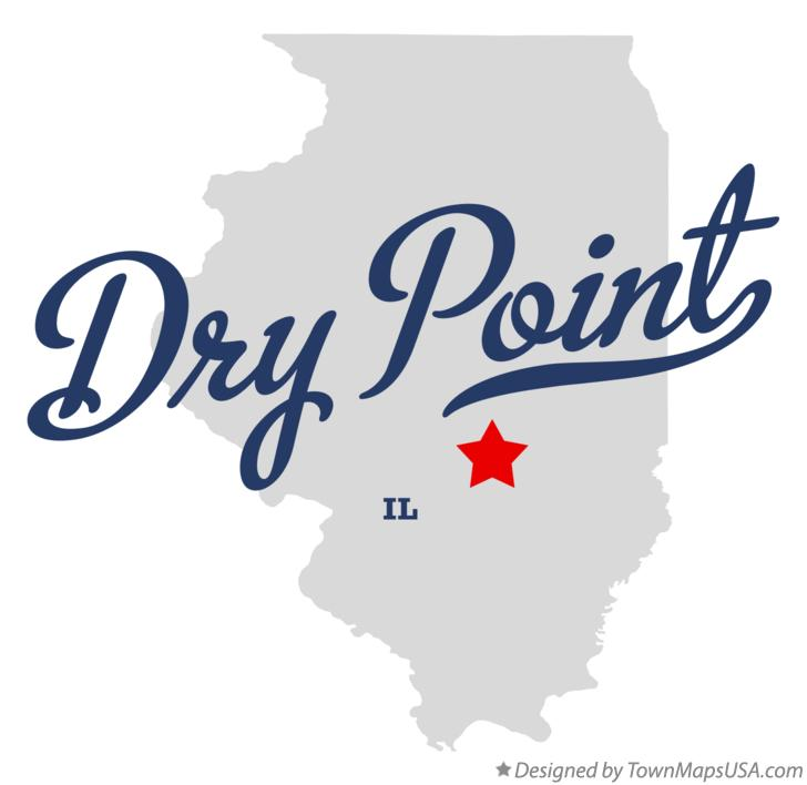 Map of Dry Point Illinois IL