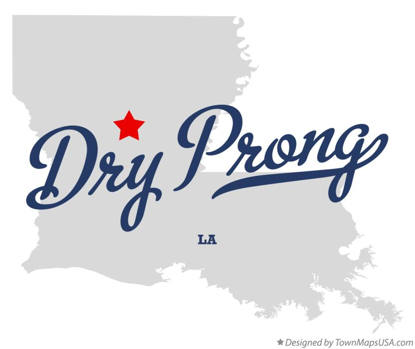 Map of Dry Prong Louisiana LA