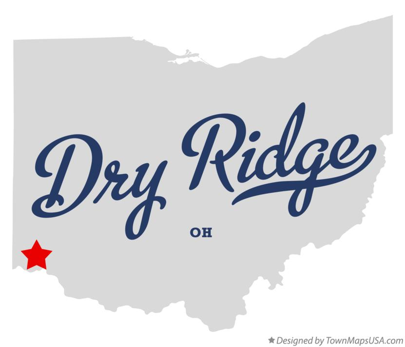 Map of Dry Ridge Ohio OH