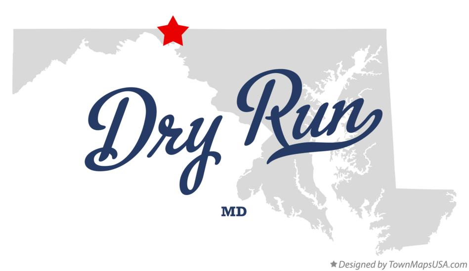 Map of Dry Run Maryland MD