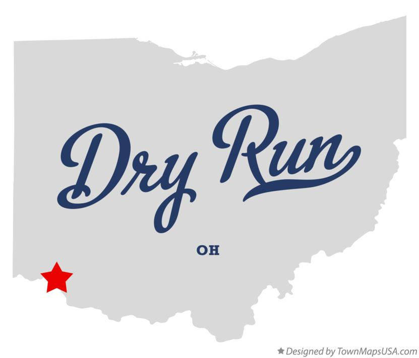 Map of Dry Run Ohio OH
