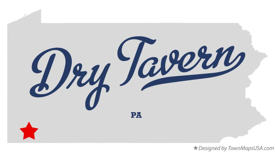 Map of Dry Tavern Pennsylvania PA