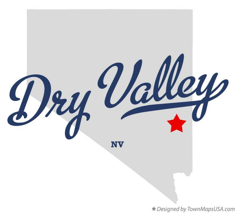 Map of Dry Valley Nevada NV
