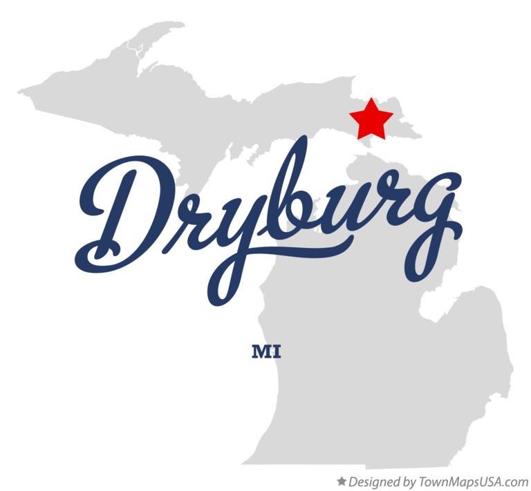 Map of Dryburg Michigan MI