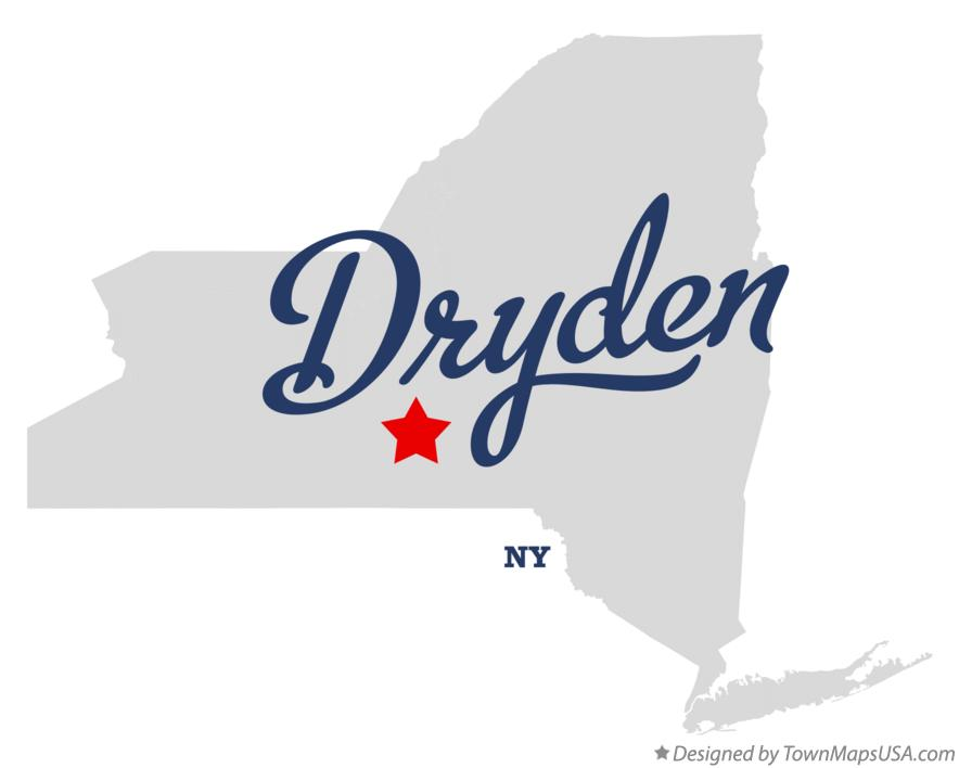 Map of Dryden New York NY