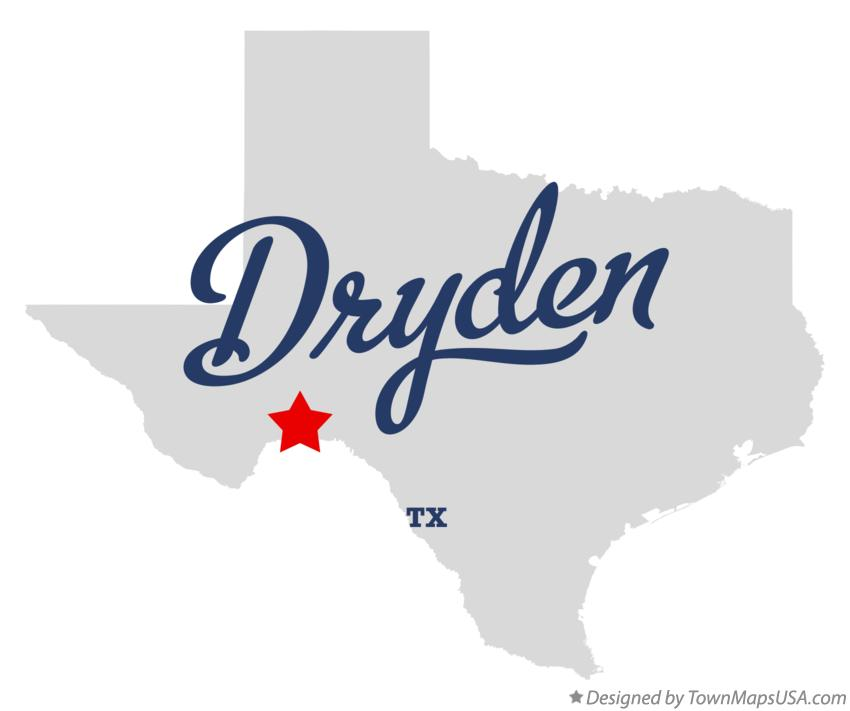 Map of Dryden Texas TX