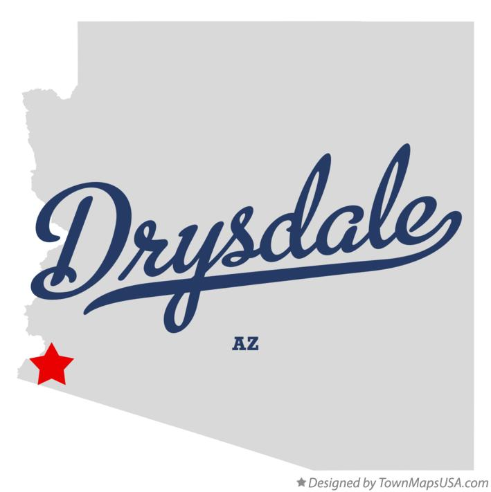 Map of Drysdale Arizona AZ