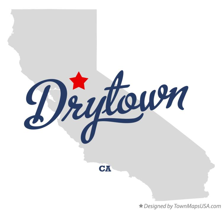 Map of Drytown California CA