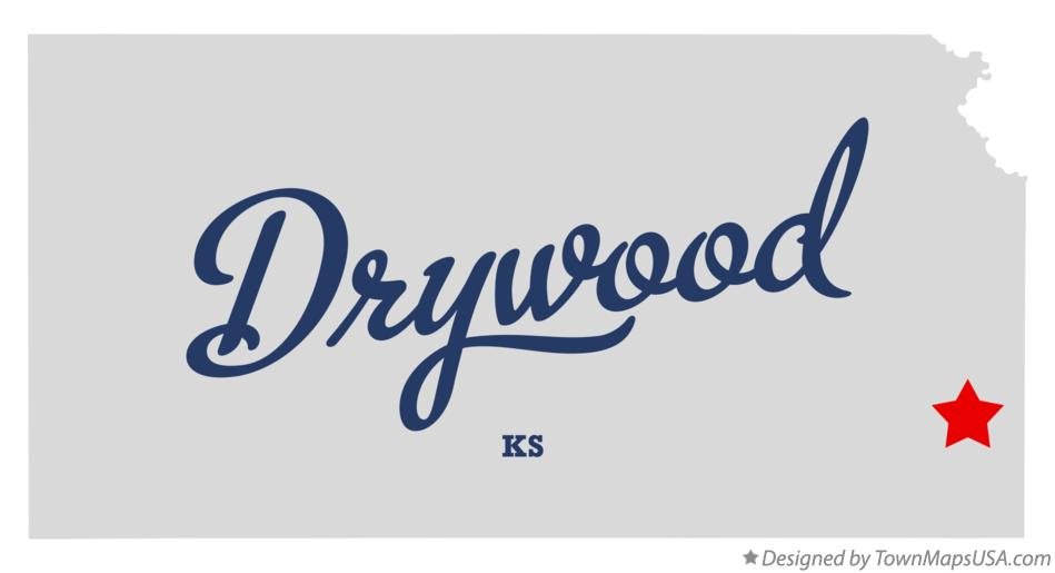 Map of Drywood Kansas KS