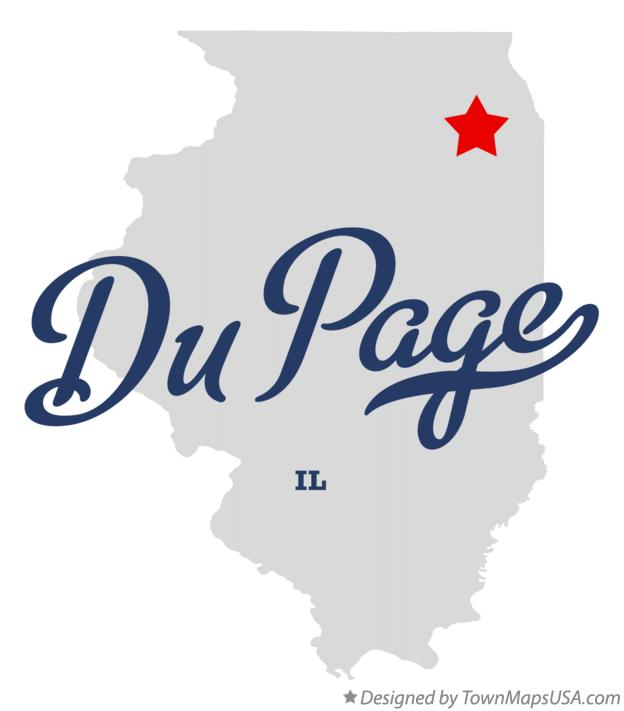 Map of Du Page Illinois IL