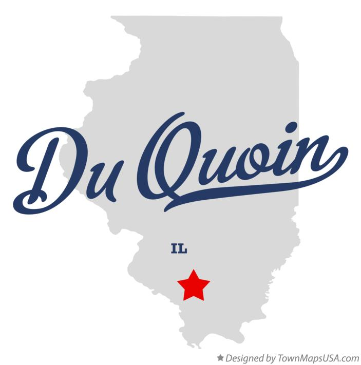 Map of Du Quoin Illinois IL