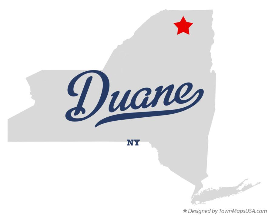 Map of Duane New York NY