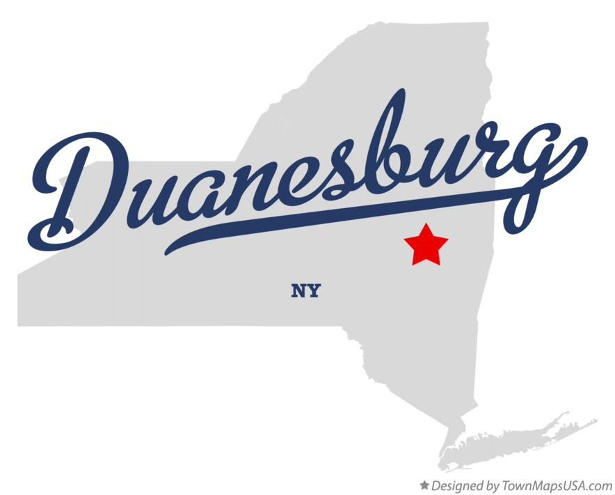 Map of Duanesburg New York NY