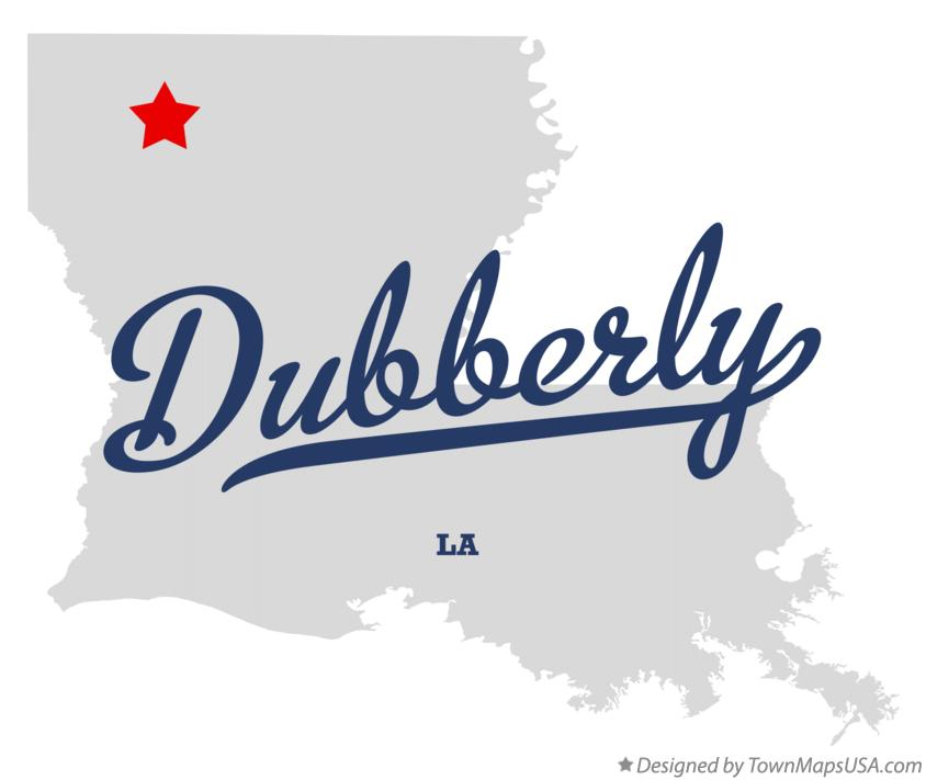 Map of Dubberly Louisiana LA