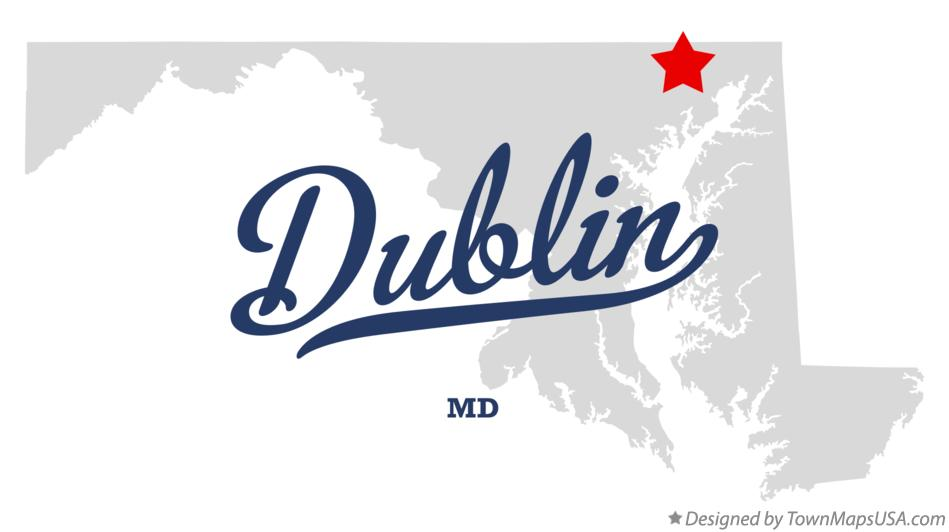 Map of Dublin Maryland MD