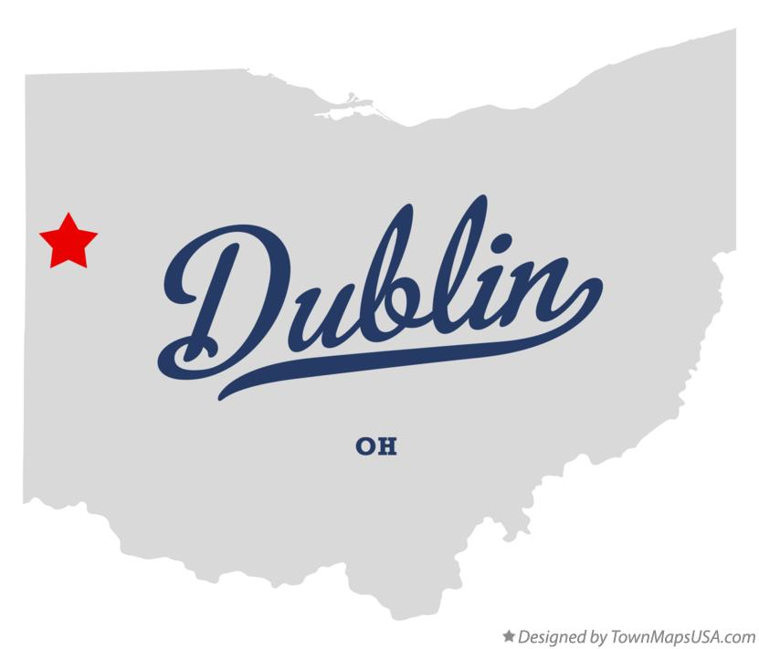 Map of Dublin Ohio OH