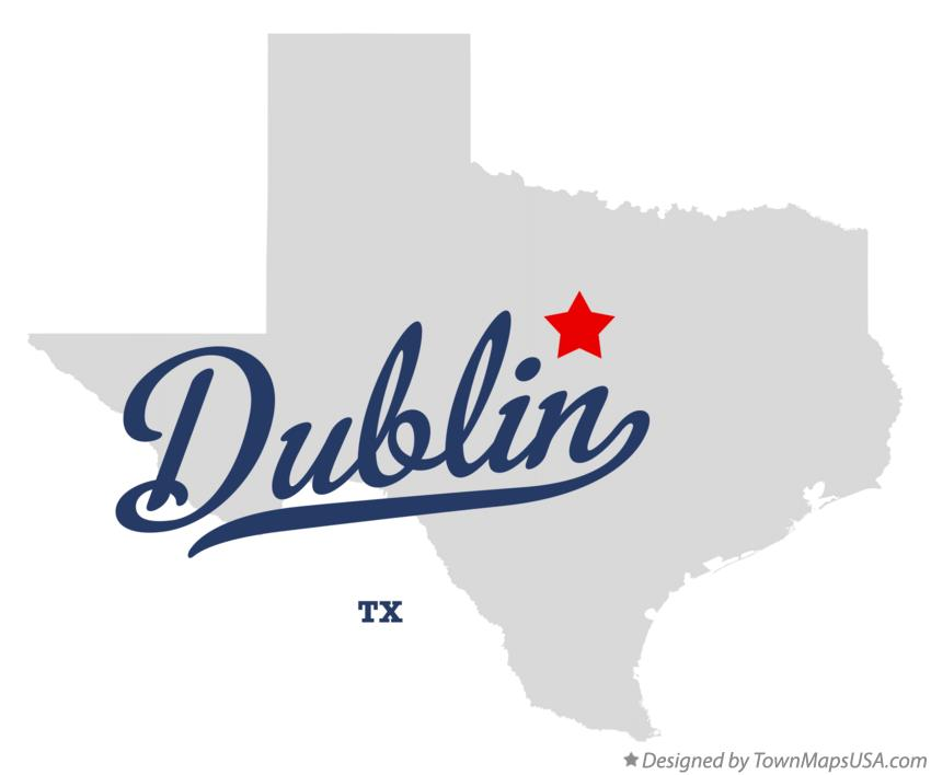Map of Dublin Texas TX