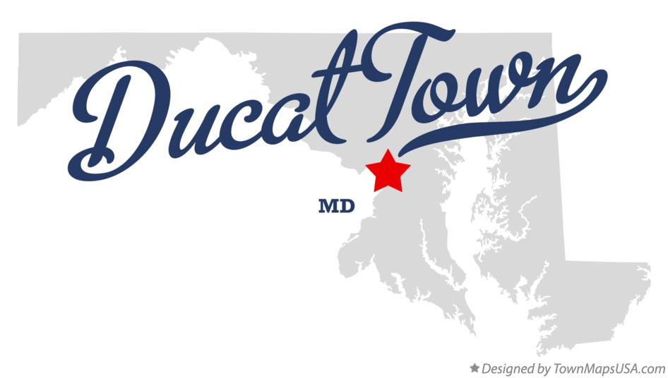 Map of Ducat Town Maryland MD
