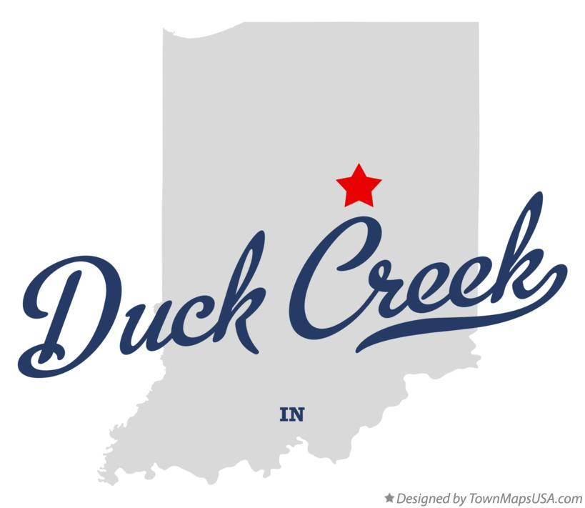Map of Duck Creek Indiana IN