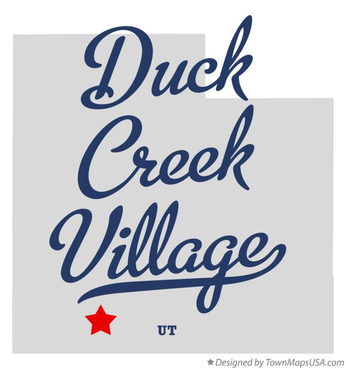Map of Duck Creek Village Utah UT