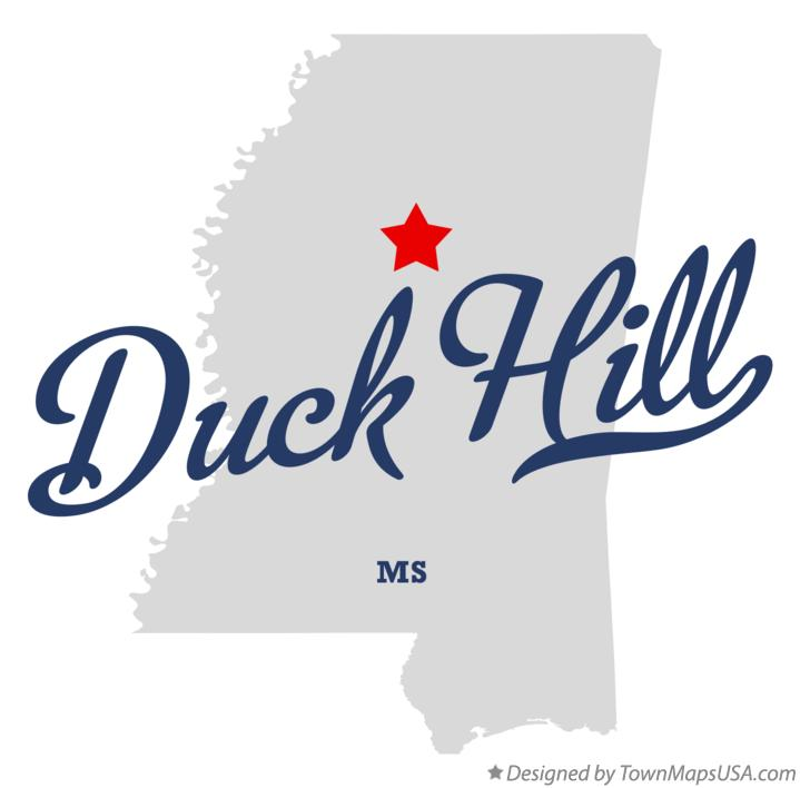 Map of Duck Hill Mississippi MS
