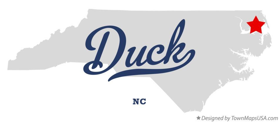 Map of Duck, NC, North Carolina Duck North Carolina Map on