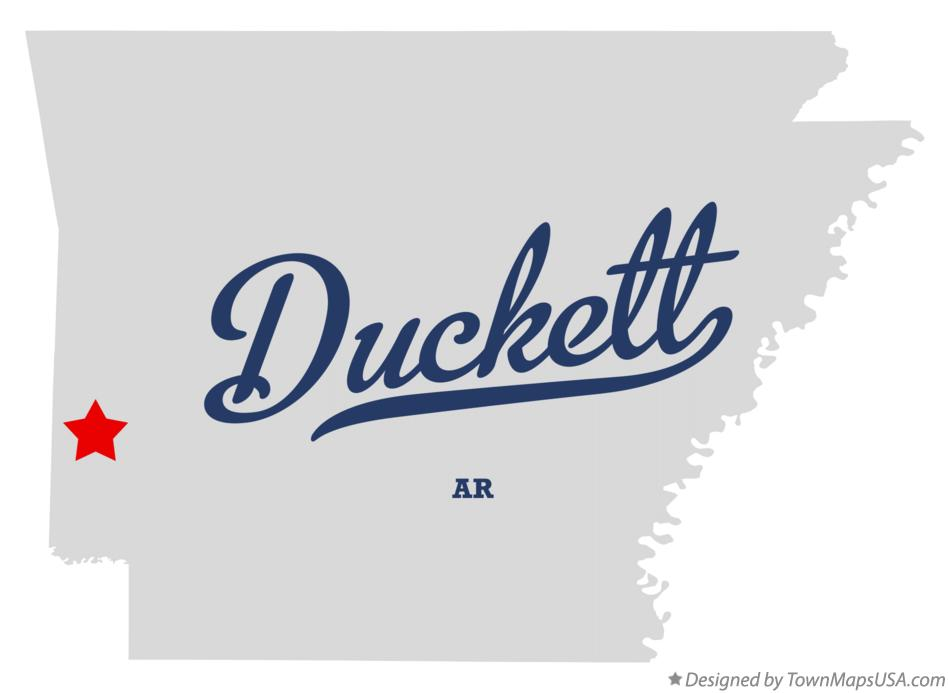 Map of Duckett Arkansas AR