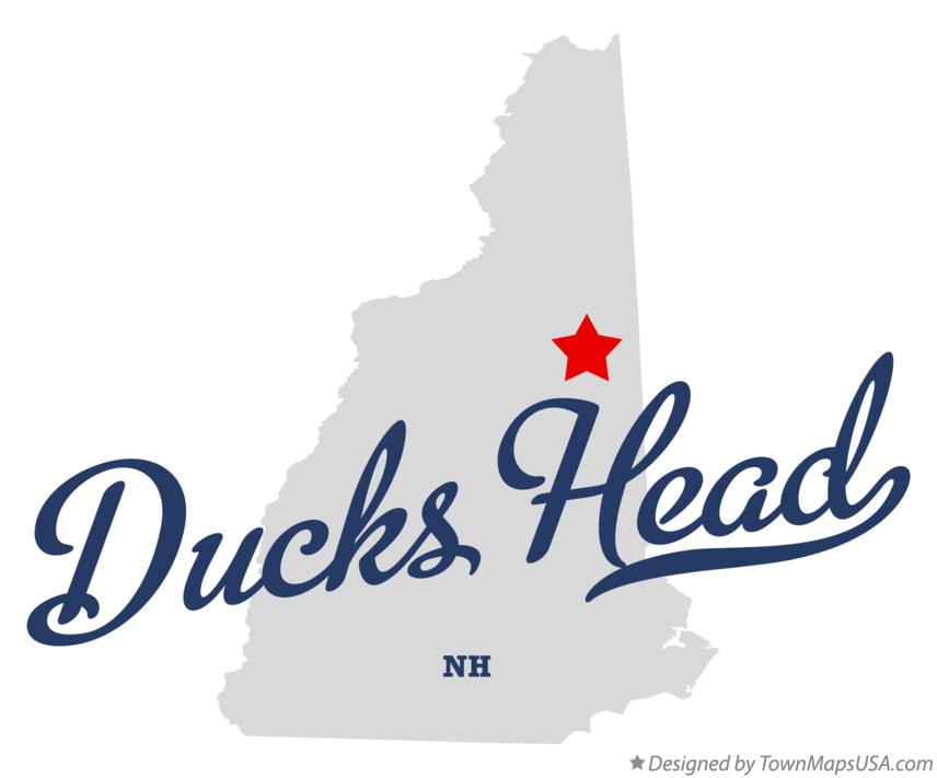 Map of Ducks Head New Hampshire NH